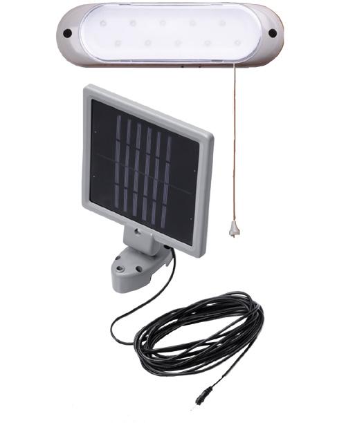 L mpara solar para casetas y cobertizos impermeable 10 leds - Lamparas solares interior ...
