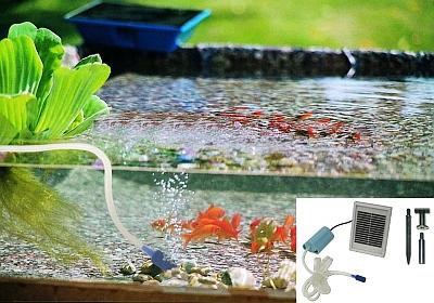 oxigenador acuarios y charcas con placa solar tfv solar