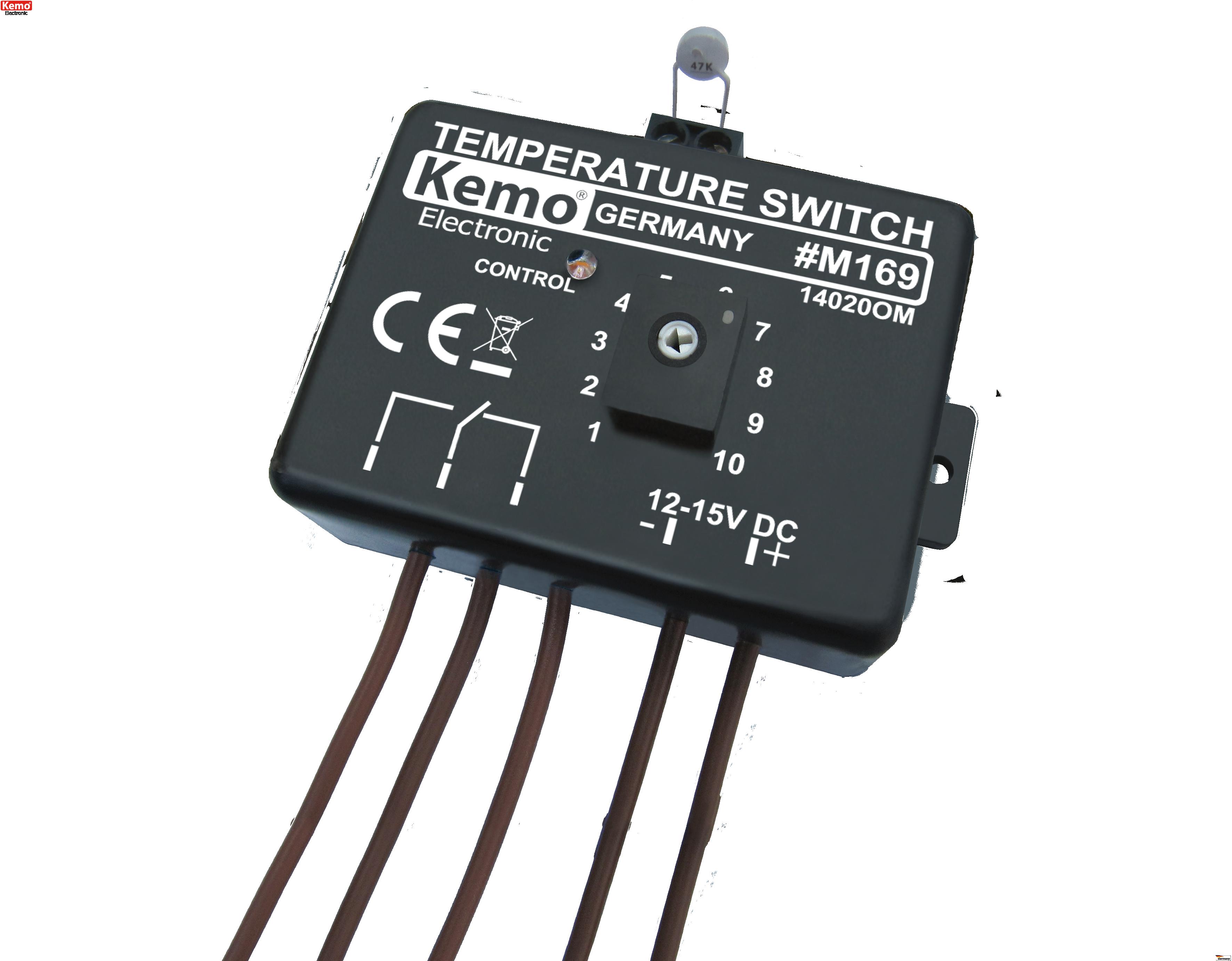 termostato autom tico temperatura 0 100 c 12 v dc m169