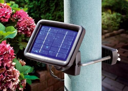Trio spot 3 focos de led solar tfv solar for Focos solares jardin