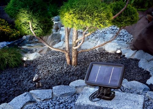 Trio spot 3 focos de led solar tfv solar - Focos solares jardin ...
