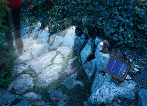 Trio spot pir con sensor de movimiento tfv solar - Focos solares jardin ...