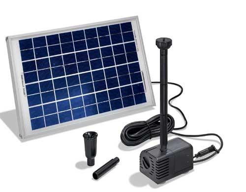 Fuente solar para estanques napoli 12 24v10w 470 750 l h - Fuentes solares para jardin ...