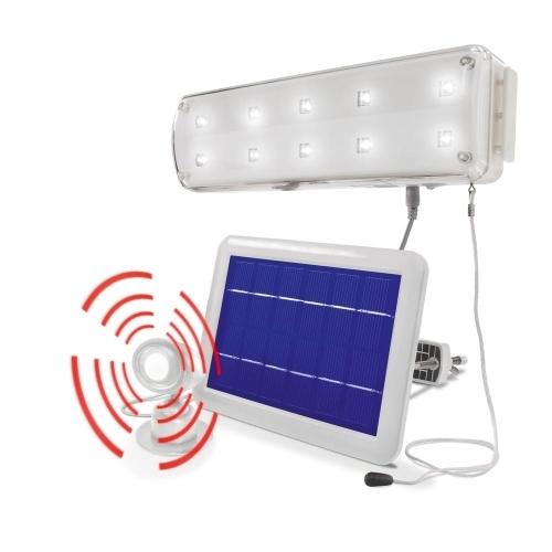 lmpara solar leds con sensor movimiento para casetas y cobertizos