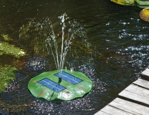 Fuente solar flotante rosa de agua tfv solar - Motor de fuente de agua ...