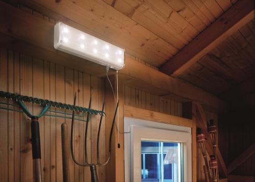 L Mpara De 10 Leds Para Interiores Con Placa Solar Tfv