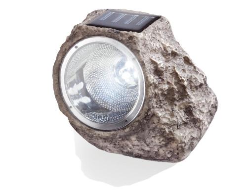 Piedra solar para jard n con foco de led tfv solar for Lamparas de sobremesa leroy merlin