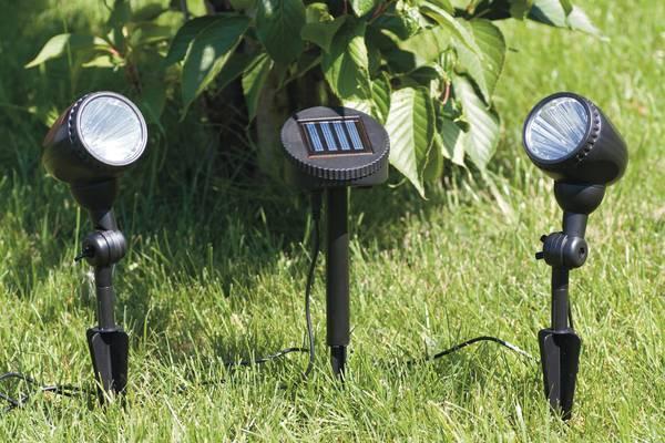 2 focos solares de suelo con 3 leds y placa solar tfv - Focos led solares ...