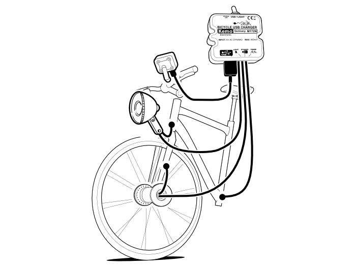 Cargador USB 5V/800mA para bicicletas - TFV - Solar
