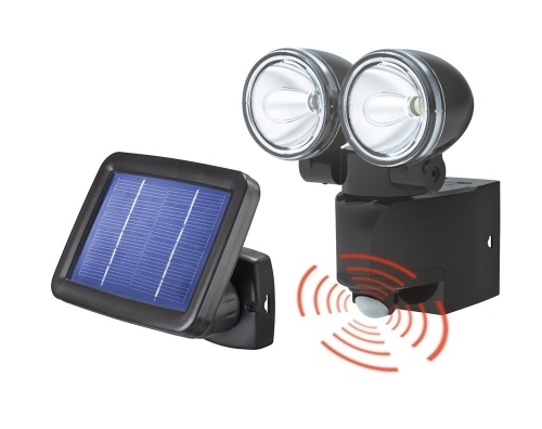foco led doble con sensor movimiento placa solar tfv solar