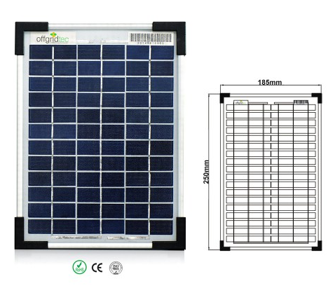 Panel Solar Policristalino 5wp 18v Tfv Solar