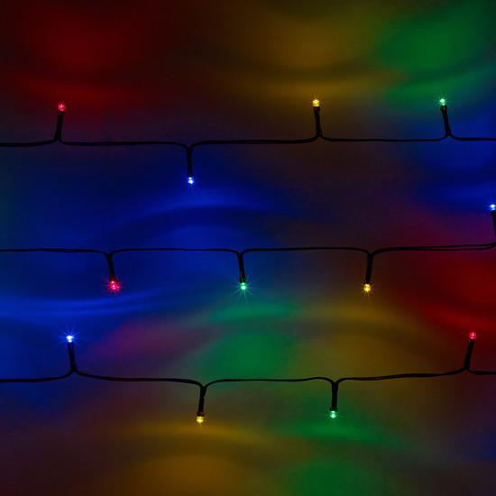 Guirnalda solar de 100 leds de colores exterior ip44 - Guirnaldas leds para exterior ...