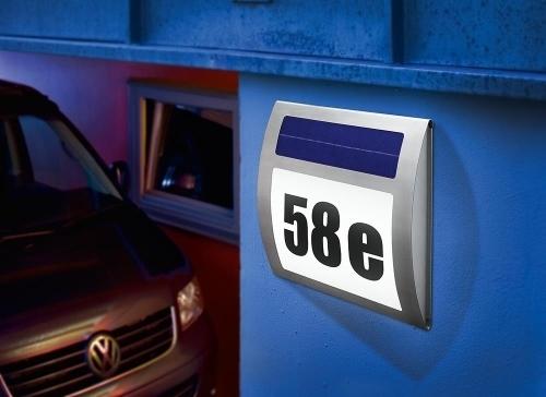 placa solar de led para numero de calle o casa