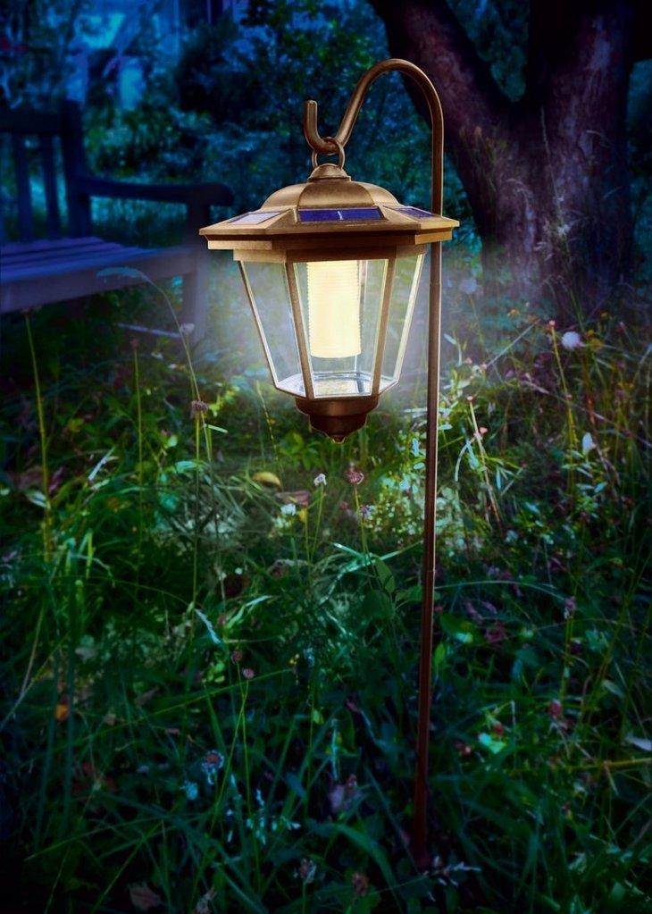 Farola solar cl sica tivoli luz blanca c lida para jard n - Iluminacion jardin solar ...