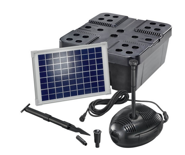 Kit solar de filtrado estanques pro 630 tfv solar for Precio estanque