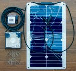Kit extractor solar 20W 12V/193m/h IP58