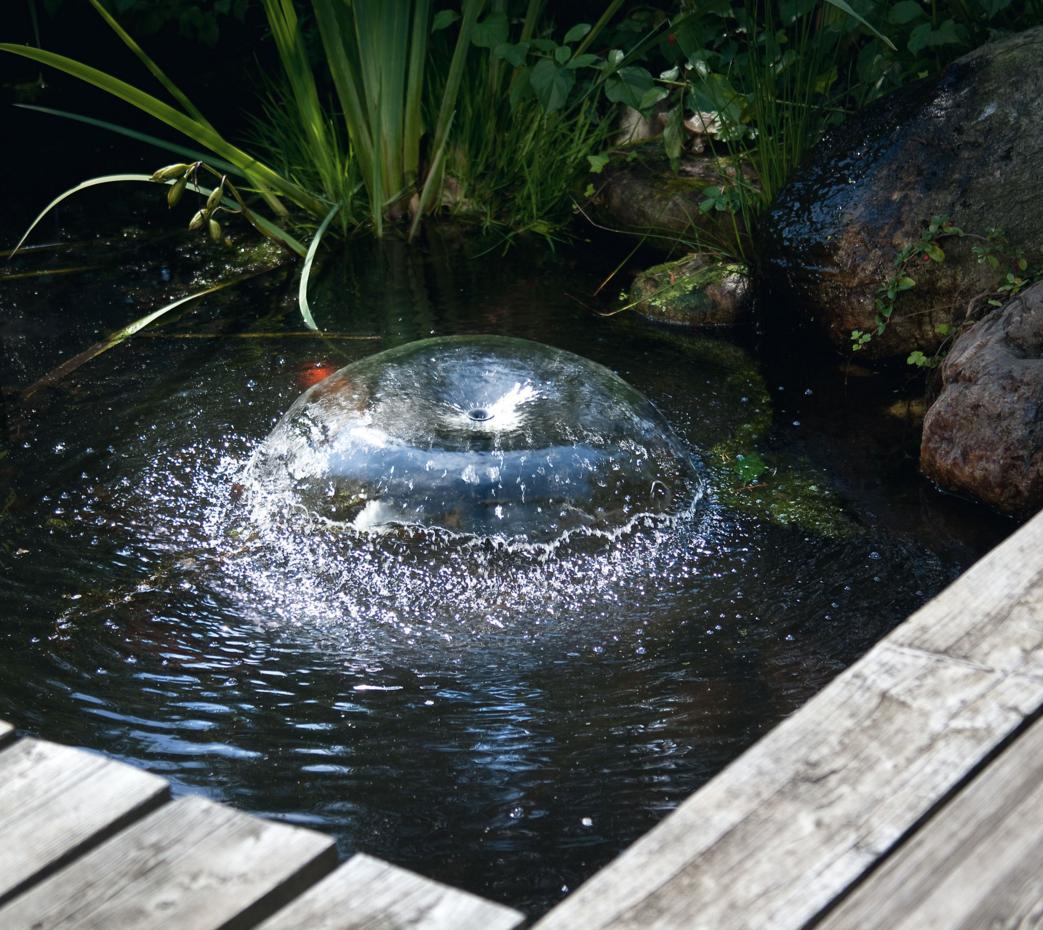 Sistema de filtrado de estanque con bomba solar regulable Estanque sin filtro