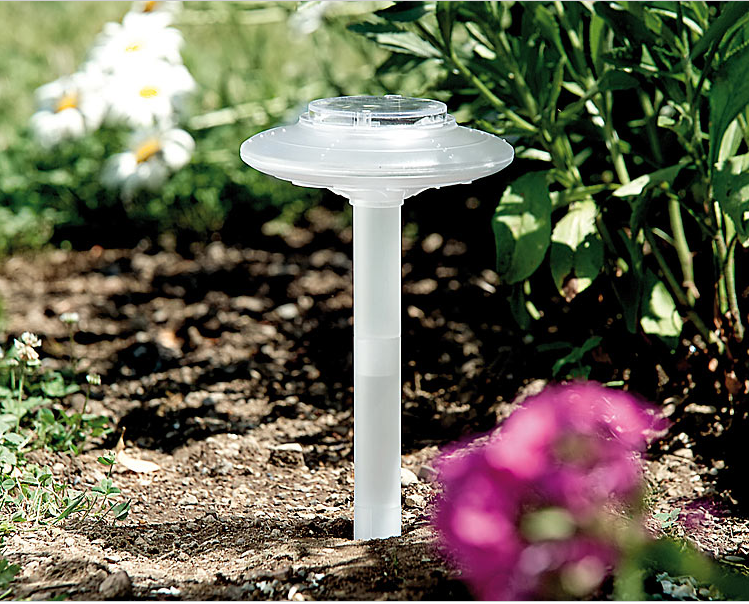 Baliza solar transparente con led para jard n tfv solar for Solar jardin