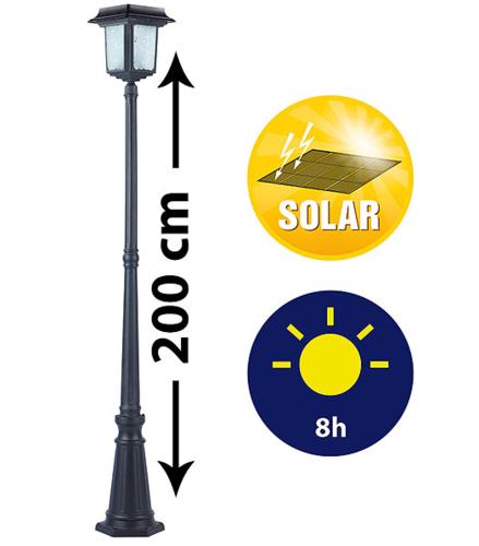 Luz solar tfv solar for Farolas solares jardin