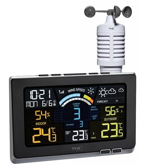 Estaci n meteorol gica con anem metro y pantalla en color - Estacion meteorologica precio ...