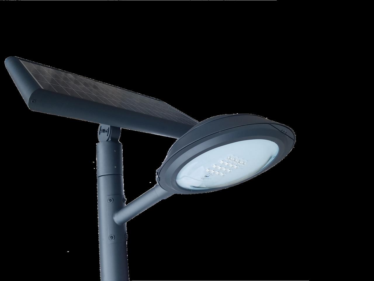 Farola solar programable de 16w led con poste tfv solar - Farolas led solares ...