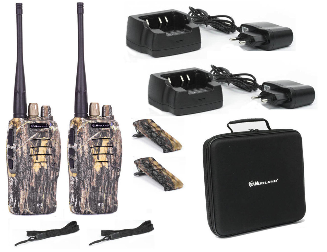 2 Walkie Talkies Midland G10 camuflaje