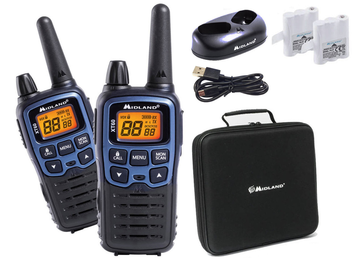2 walkie talkies Midland XT60 con maleta transporte