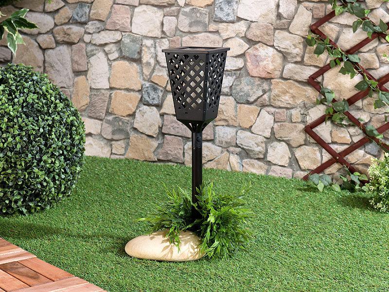 Antorcha led solar para jard n efecto llama tfv solar - Antorchas solares para jardin ...