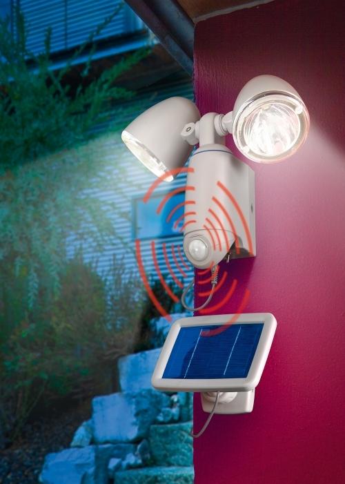 Foco solar seguridad doble 2w orientable sensor de movimiento - Foco con sensor de movimiento ...