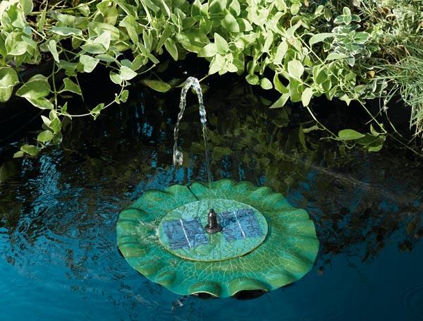 Fuente solar flotante hoja de nen far 210l hora tfv solar - Fuente solar jardin ...