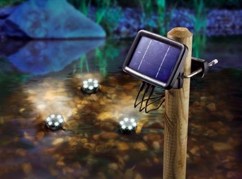 3 focos solares led acu ticos modelo splash tfv solar - Focos solares jardin ...