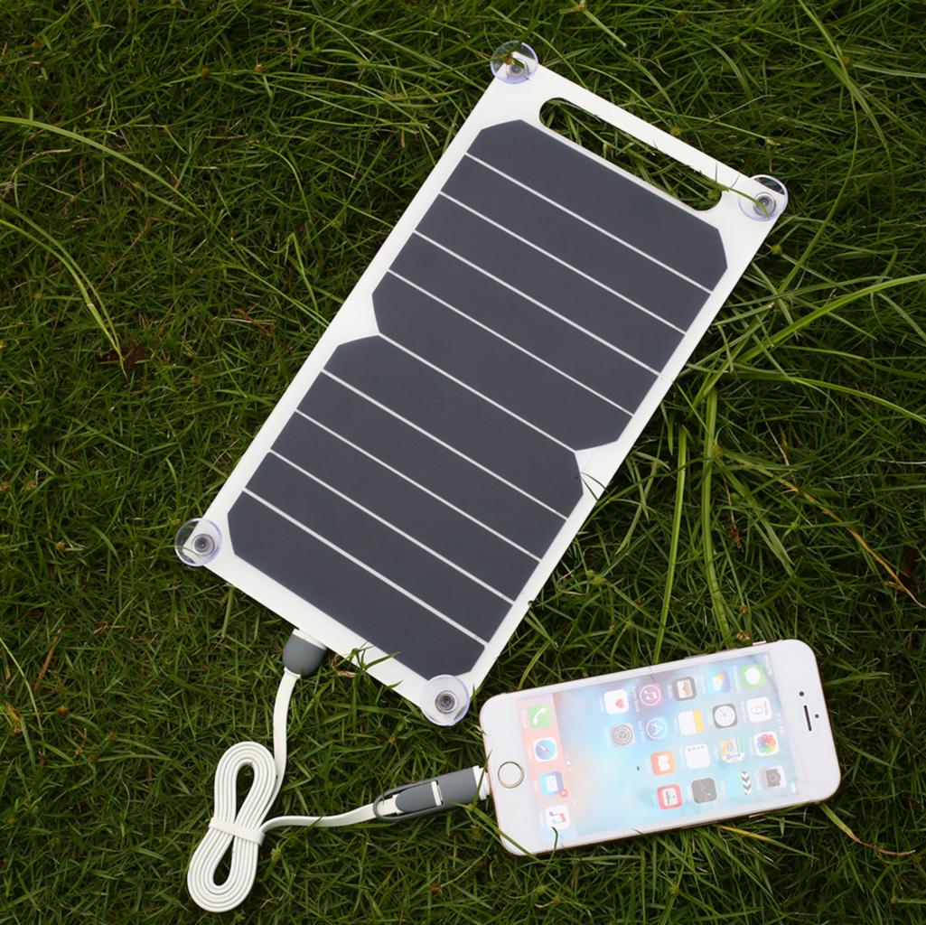 Cargador solar 5V USB 5W con ventosas para ventana - TFV - Solar
