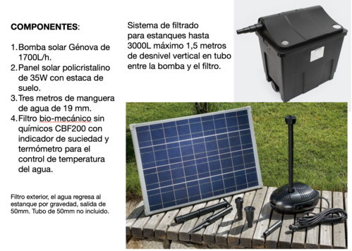 Kit de filtrado para estanques GE-CBF200